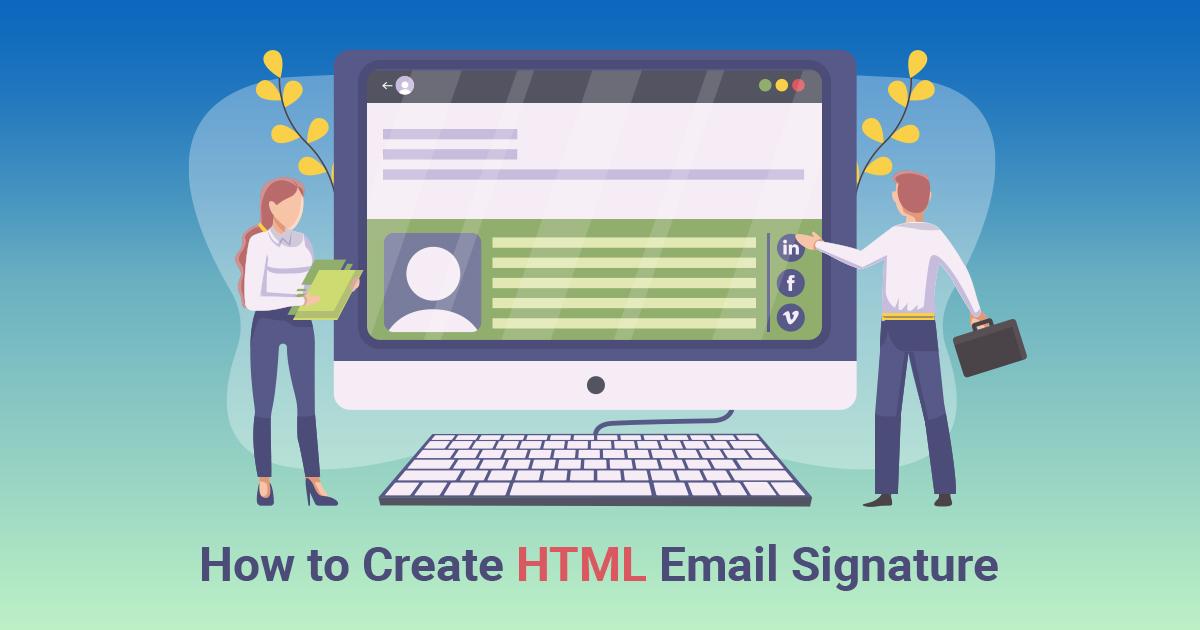HTML signature creator