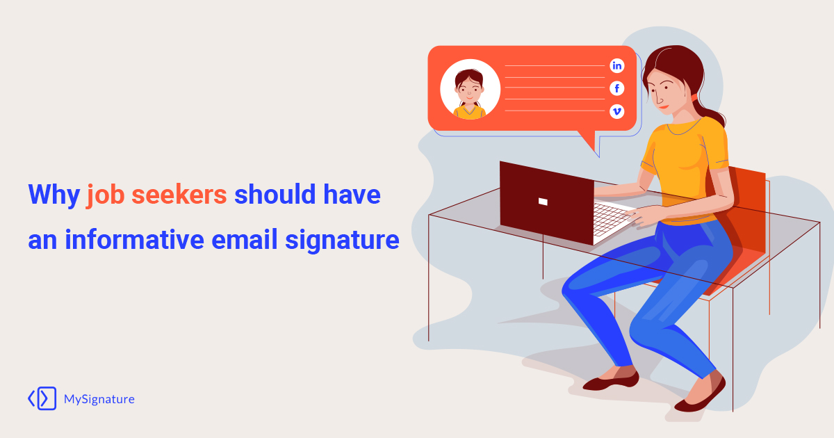 Why job seekers should have an informative email signature