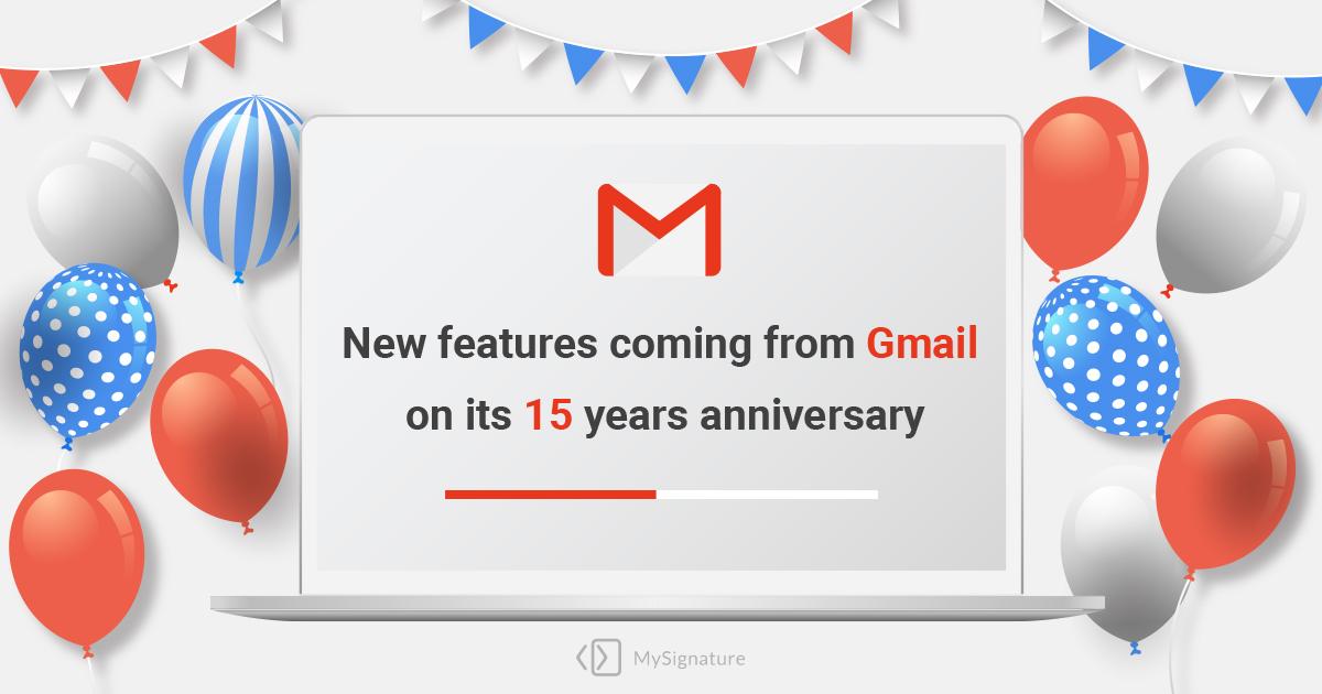 Gmail 15 anniversary