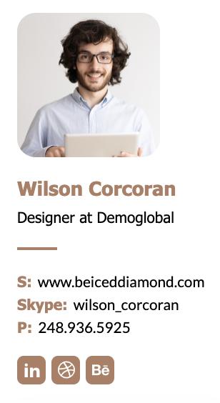 Designer email signature