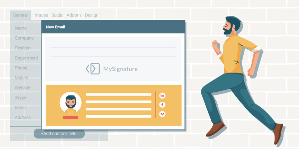 create email signature with MySignature