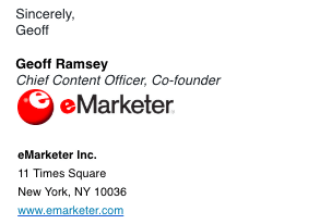 Branded email signature with company logo