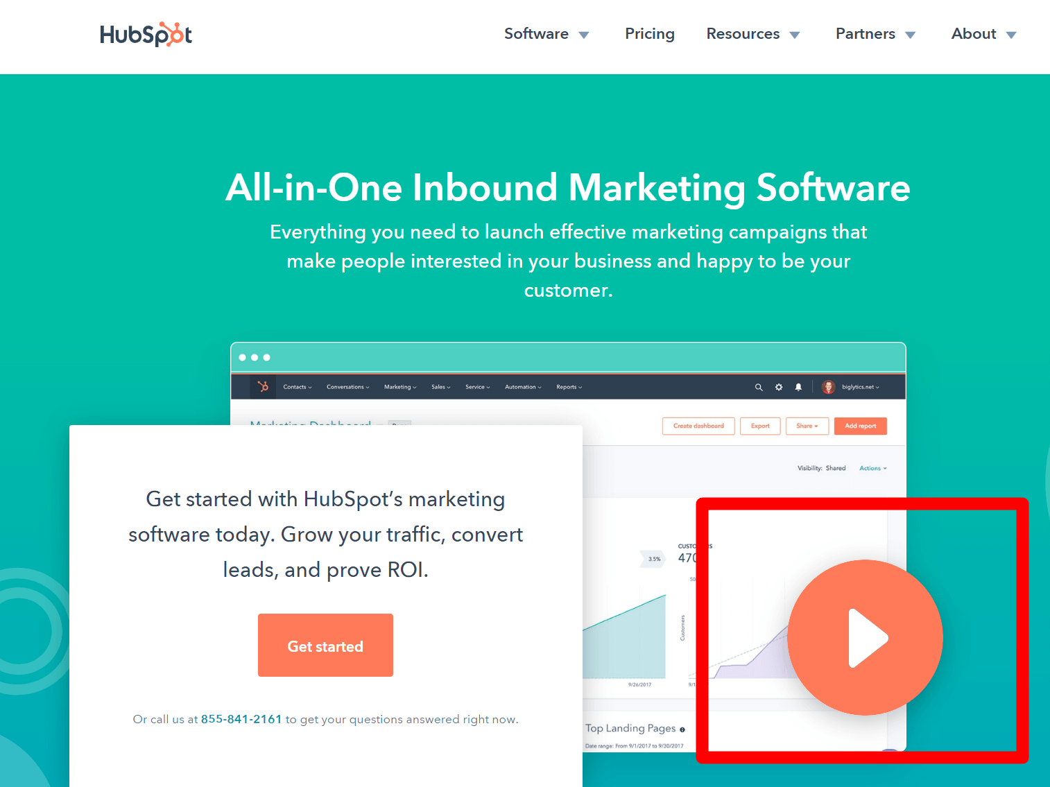 Add videos to landing pages
