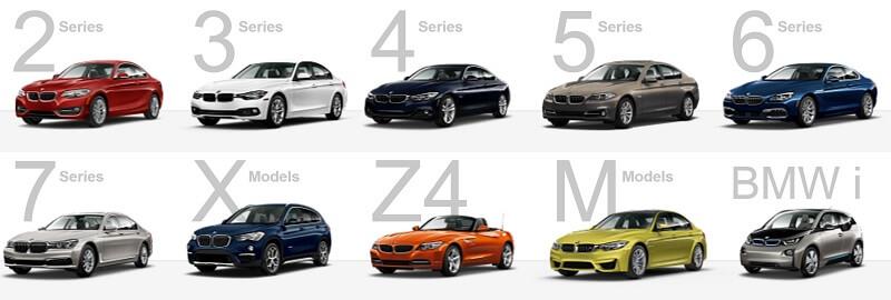 BMW series branding