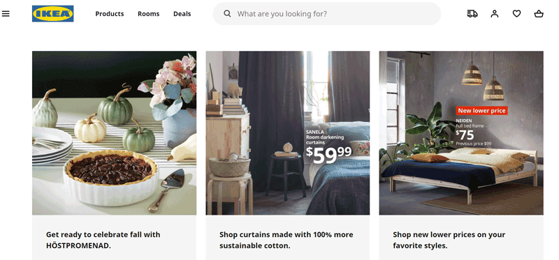 ikea website design