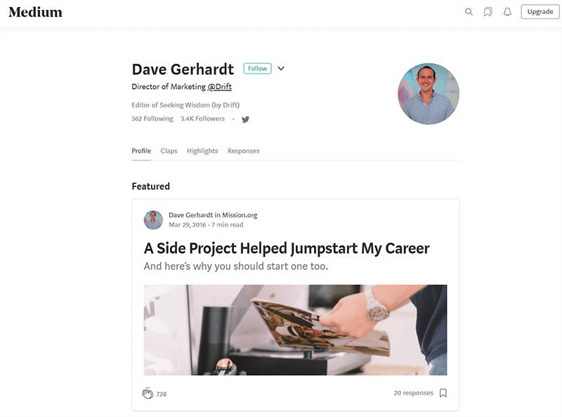 Dave Gerhardt's blog