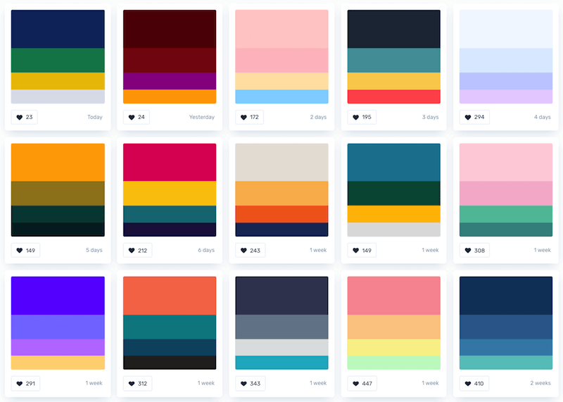 Personal brand colors palette