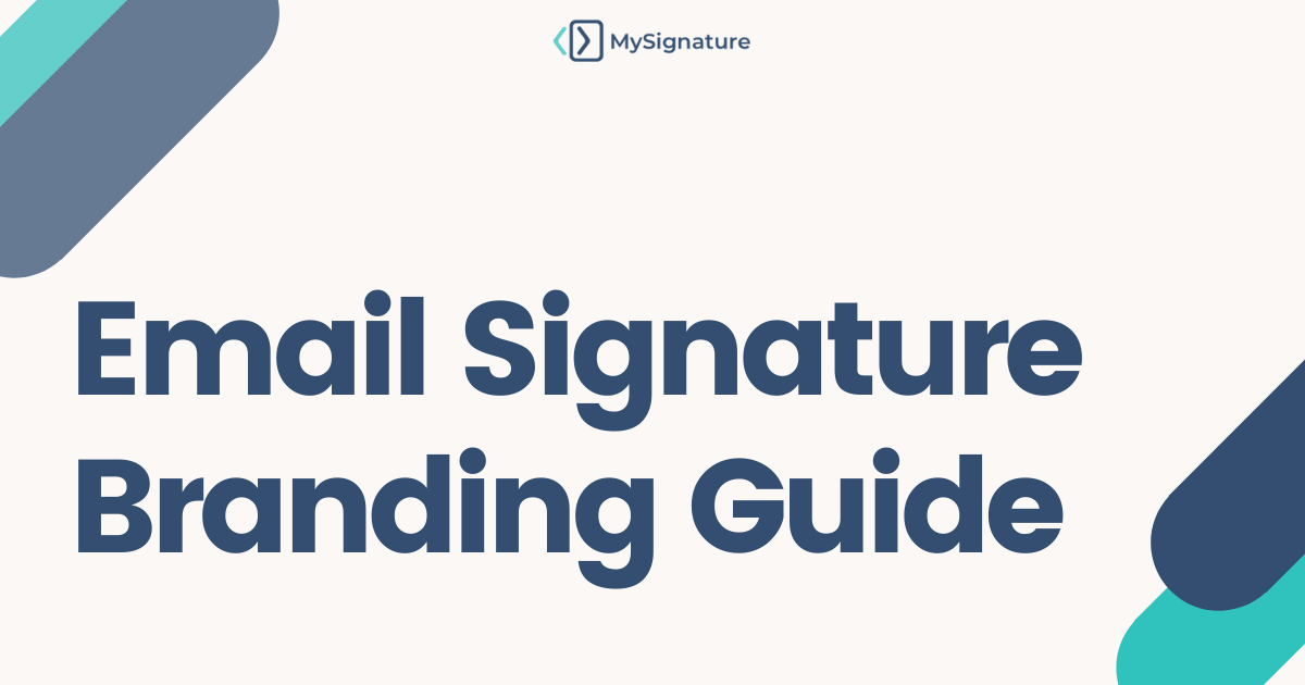 Email signature branding guide