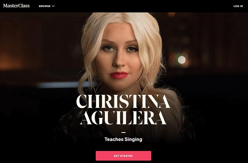 Christina Aguilera's branded course