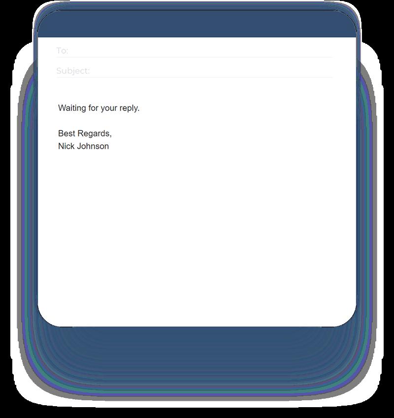 Simple email signature
