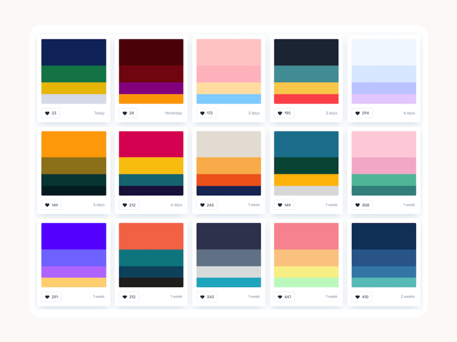 Choose a palette of your brand colors