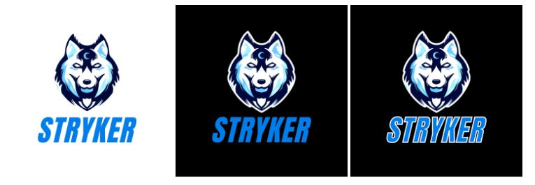 photo or logo in dark mode