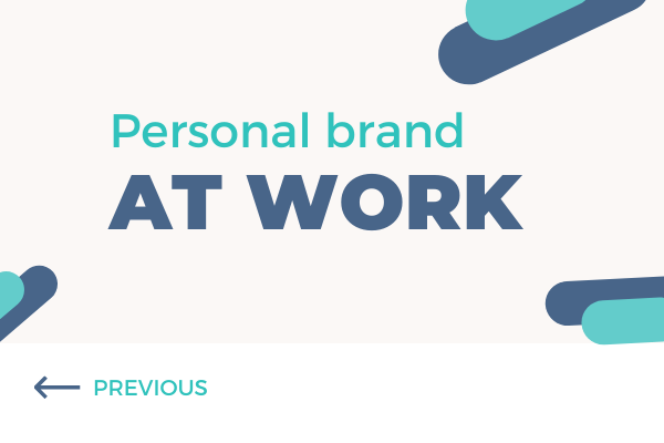 Personal brand at work - blog